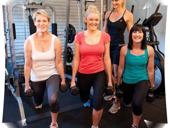 Some of my girls enjoy lunges.  See how they smile.